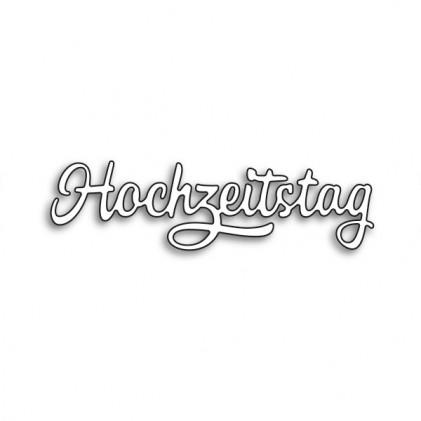 Karten-Kunst Stanzschablone - Große Texte Hochzeitstag