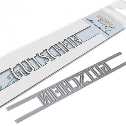 Karten-Kunst Stanzschablone - Brückentext Gutschein