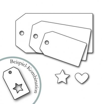 Karten-Kunst Stanzschablone - Tags