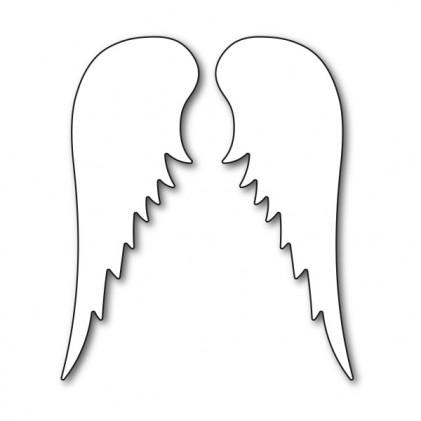 Karten-Kunst Stanzschablone - Angel Wings