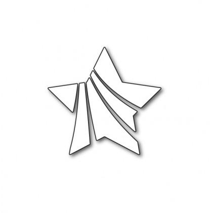 Karten-Kunst Stanzschablone - Wavy Star