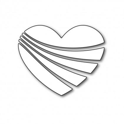 Karten-Kunst Stanzschablone - Wavy Heart