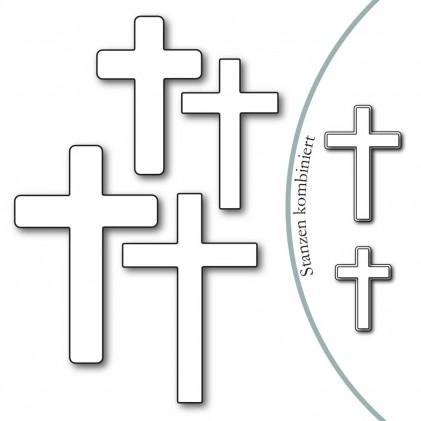 Karten-Kunst Stanzschablone - Crosses