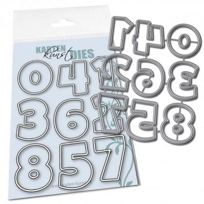 Karten-Kunst Stanzschablone - Lucky Numbers