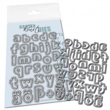 Karten-Kunst Stanzschablone - Lucky Alphabet Lower Case