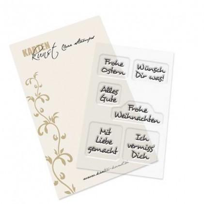Karten-Kunst Clear Stamp Inchie-Grüße 4