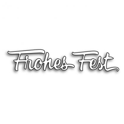 Karten-Kunst Stanze - Frohes Fest