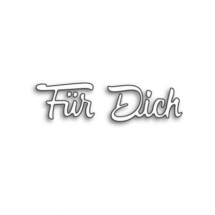 Karten-Kunst Stanzschablone - Große Texte Für Dich