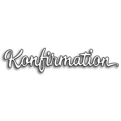 Karten-Kunst Stanzschablone - Große Texte Konfirmation