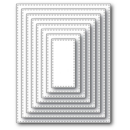 Memory Box Open Studio Stanzschablone - Stitched Rectangle Layers