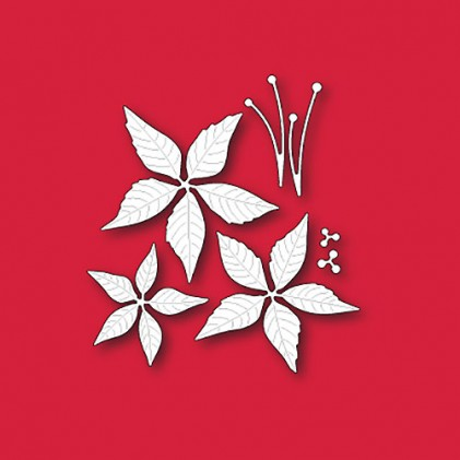 Memory Box Open Studio Stanzschablonen-Set - Poinsettia Blooms