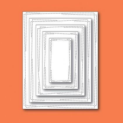 Memory Box Open Studio Stanzschablonen-Set - Wrapped Stitch Rectangles