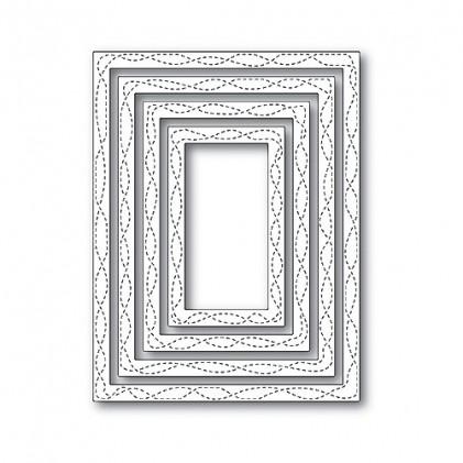 Memory Box Open Studio Stanzschablonen-Set - Wrapped Stitch Frames