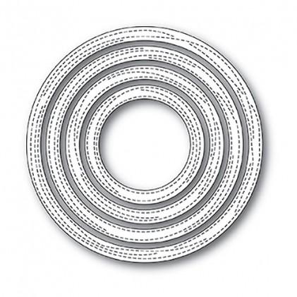 Memory Box Open Studio Stanzschablonen-Set - Wrapped Stitched Circle Frames