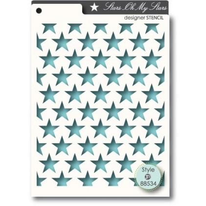 Memory Box Stencil 10x15cm - Stars Oh My Stars
