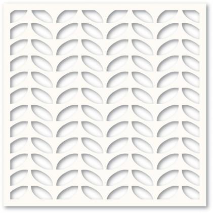 Memory Box Template - Leafy Rows Stencil