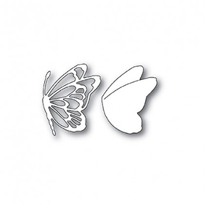 Memory Box Stanzschablone - Flitter Side Butterfly
