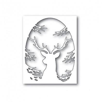 Memory Box Stanzschablone - Pine Baum Reh Collage