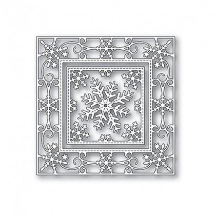 Memory Box Stanzschablone - Elegant Schneeflocken Double Frame