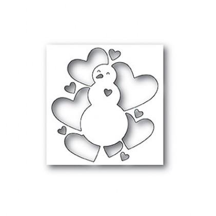 Memory Box Stanzschablone - All Heart Snowman - 40% RABATT