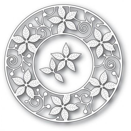 Memory Box Stanzschablone - Poinsettia Circle Frame