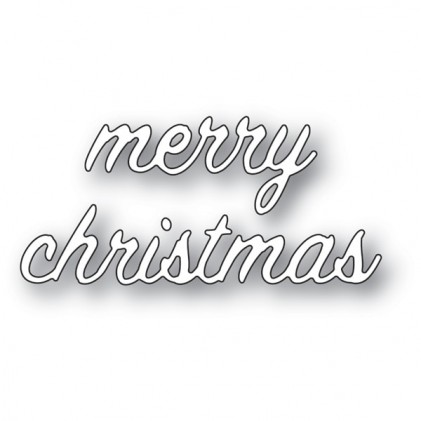 Memory Box Stanzschablone - Merry Christmas Swash Script
