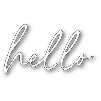 Memory Box Stanzschablone - Big Hello Premiere