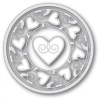 Memory Box Stanzschablone - Pinpoint Heart Circle Frame - 20% RABATT