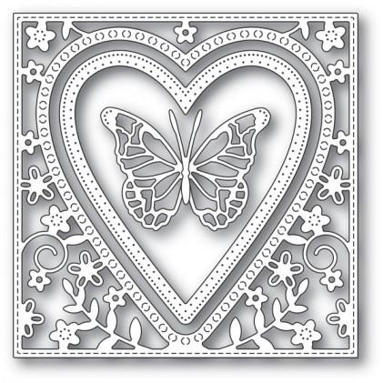 Memory Box Stanzschablone - Butterfly Heart Frame