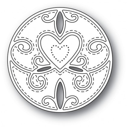 Memory Box Stanzschablone - Scroll Heart Circle - 25% RABATT