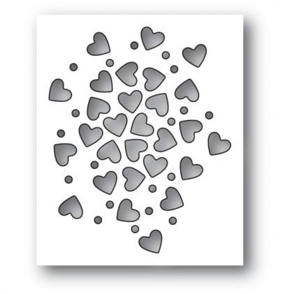 Memory Box Stanzschablone - Heart Sprinkles