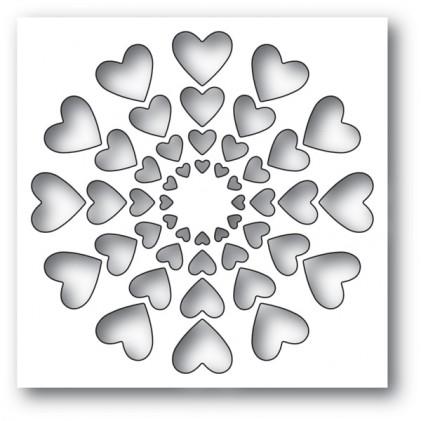 Memory Box Stanzschablone - Bright Hearts