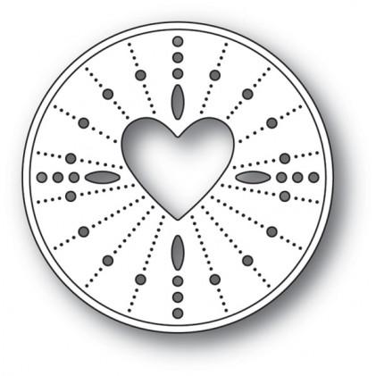 Memory Box Stanzschablone - Pinpoint Heart Circle