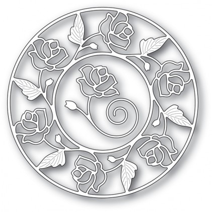 Memory Box Stanzschablone - Stained Glass Rose Circle Frame - 20% RABATT