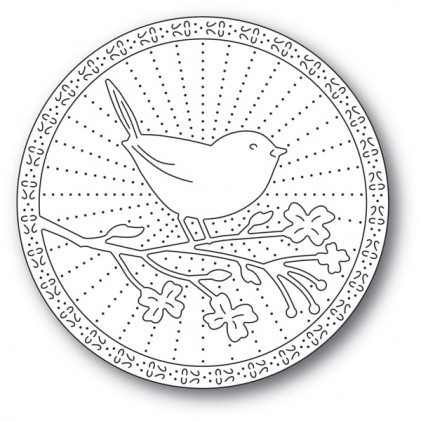 Memory Box Stanzschablone - Perched Bird - 25% RABATT