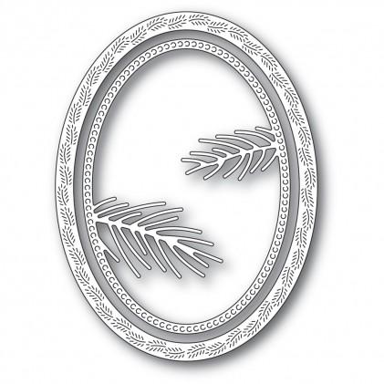 Memory Box Stanzschablone - Pine Needle Oval Frame - 20% RABATT