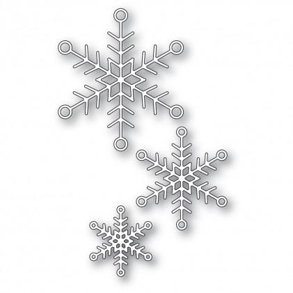 Memory Box Stanzschablone - Jolly Snowflake Trio