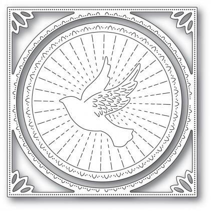 Memory Box Stanzschablone - Shining Dove Frame - 25% RABATT