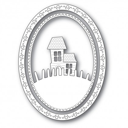 Memory Box Stanzschablone - Haunted Hill Oval Frame