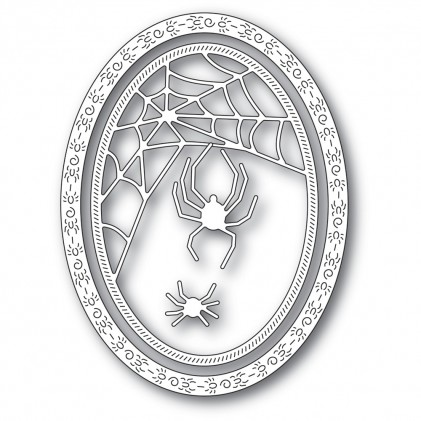 Memory Box Stanzschablone - Spider Web Oval Frame