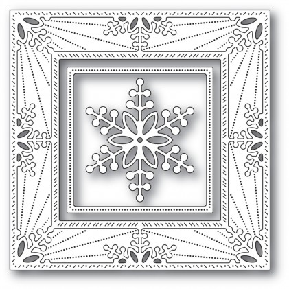 Memory Box Stanzschablone - Bauble Snowflake Frame