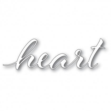 Memory Box Stanzschablone - Heart Airy Script