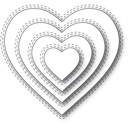 Memory Box Stanzschablone - Double Stitch Loving Heart Cut Out