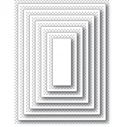 Memory Box Stanzschablone - Double Stitch Rectangle Cut Out