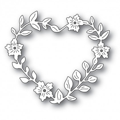 Memory Box Stanzschablone - Blooming Heart Wreath