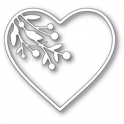 Memory Box Stanzschablone - Berry Branch Loving Heart