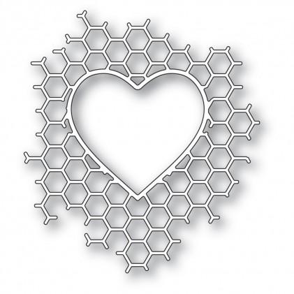 Memory Box Stanzschablone - Honeycomb Heart