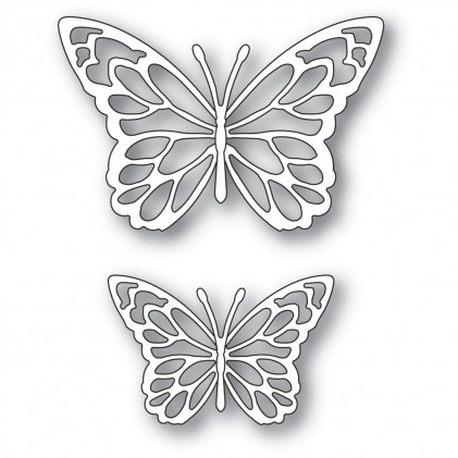 Memory Box Stanzschablone - Gloriosa Butterfly Duo Outlines