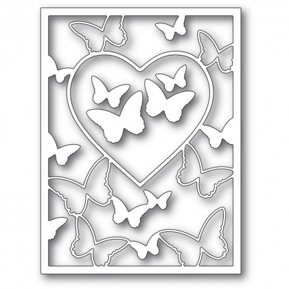 Memory Box Stanzschablone - Butterfly Heart Frame