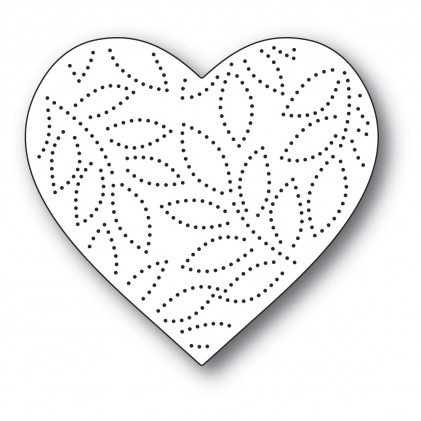 Memory Box Stanzschablone - Pinpoint Leaf Heart
